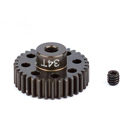 Team Associated FT Aluminum Pinion Gear,34T 48P,1/8 shaft