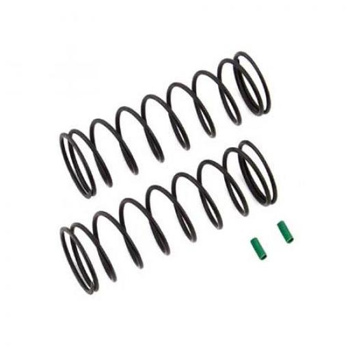Team Associated Front Springs V2, green, 4.9 lb/in, L70, 9.5T,1.6D
