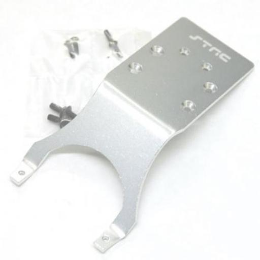 STRC Alum Rear Skid Plt Slash/Stamp/Monster Jam ,Silver