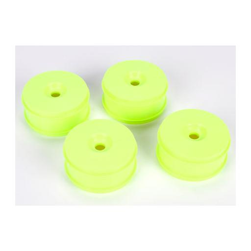 Team Losi Racing 1/8 Buggy Dish Wheel, Yellow (4): 8IGHT Buggy 3.0