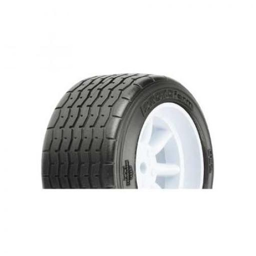 Protoform - Pro-line Racing VTA Rear Tire 31mm, Mounted White Wheel