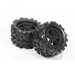 Click here to learn more about the Pro-line Racing Fr, R Big Joe 3.8 All Terrain Mnt Tech 5 Blk Whl(2.