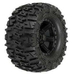 Click here to learn more about the Pro-line Racing Rear Trencher 2.8 Mnt Desperado Blk Wheel: ST, RU.