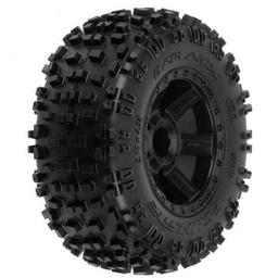 Click here to learn more about the Pro-line Racing Badlands 2.8 TRA Mnt Desperado Whl, Blk:NST, NRU.