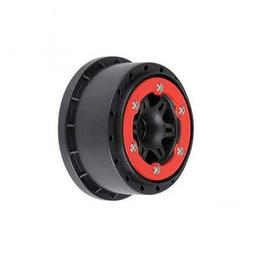 Click here to learn more about the Pro-line Racing Sixer 2.2/3.0 Red/Black Bead-Loc Fr Wheels(2):SLH.