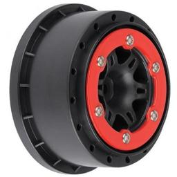 Click here to learn more about the Pro-line Racing Sixer 2.2/3.0 Red/Black Bead-Loc R Wheels (2): SLH.