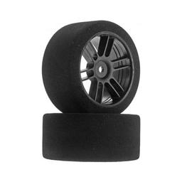 Click here to learn more about the John's BSR Racing Rear 30mm Nitro Touring Foam Tire, Blk Whl, 38 (2).
