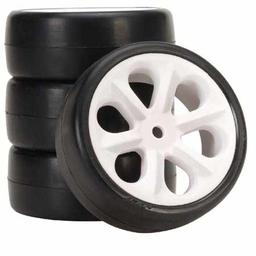 Click here to learn more about the Jaco Racing Products Rubber Sedan Tire, Blue, Prism Pre-mounted (4).