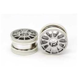 Click here to learn more about the Tamiya America, Inc M-Chassis 11-Spoke Wheel, Chrome Plated (2 ).