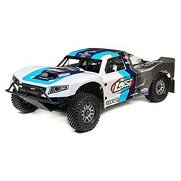 Click here to learn more about the Losi 1/5 5IVE-T 2.0 4wd SCT Gas BND: Grey/Blue/White.