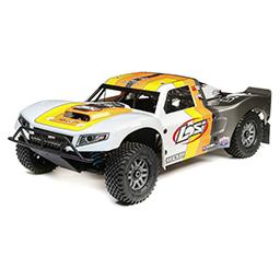 Click here to learn more about the Losi 1/5 5IVE-T 2.0 4wd SCT Gas BND: Grey/Orange/White.