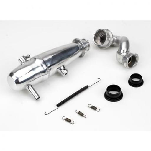 Dynamite 1/10 Revo Power Inline Exhaust System: Polished