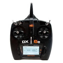 Click here to learn more about the Spektrum DX6e 6 Channel Transmitter Only.