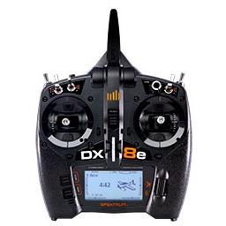 Click here to learn more about the Spektrum DX8e 8-Channel Transmitter Only.