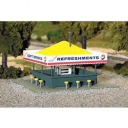 Click here to learn more about the Atlas Model Railroad HO KIT Refreshment Stand.