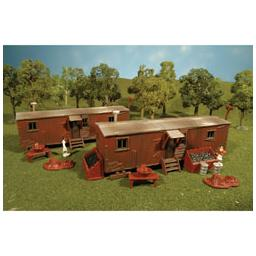 Click here to learn more about the Bachmann Industries HO Snap KIT Railroad Work Sheds (2).