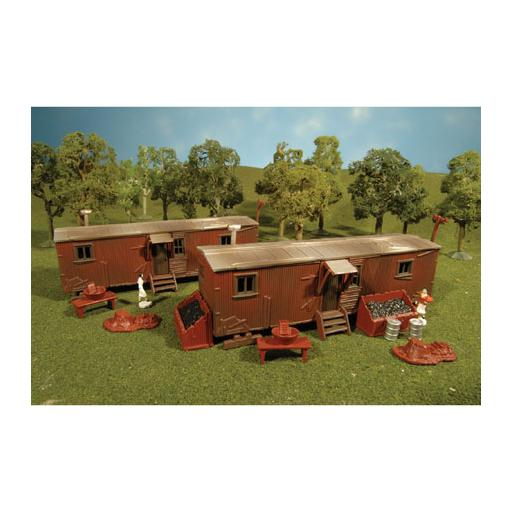 Bachmann Industries HO Snap KIT Railroad Work Sheds (2)