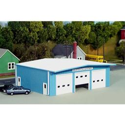 Click here to learn more about the Rix Products HO KIT Fire Station, Blue.