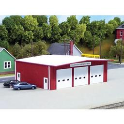 Click here to learn more about the Rix Products HO KIT Fire Station, Red.