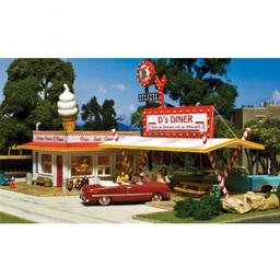 Click here to learn more about the Woodland Scenics HO KIT D''s Diner.