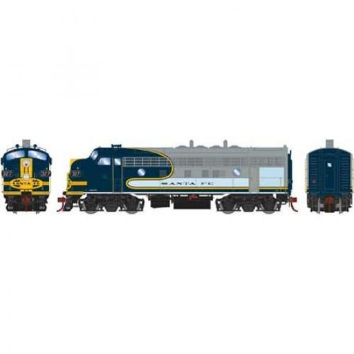 Athearn HO F7A w/DCC & Sound, SF/Freight #327L