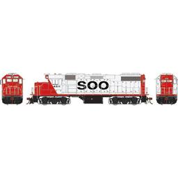 Click here to learn more about the Athearn HO GP38-2, SOO/Red & White #4511.