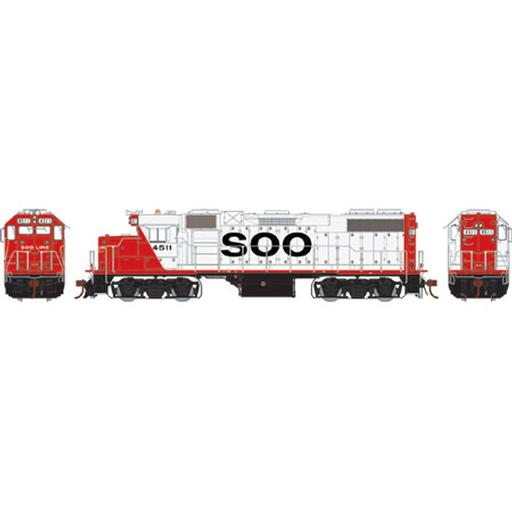 Athearn HO GP38-2, SOO/Red & White #4511