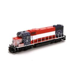 Click here to learn more about the Athearn HO GP38-2 w/DCC & Sound, B&M/Bicentennial #200.
