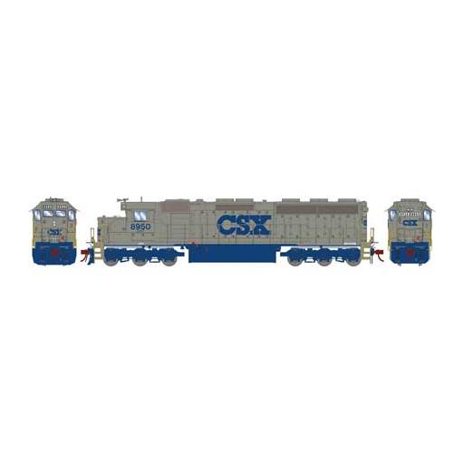 Athearn HO SD45-2, CSX/Solid Grey #8950