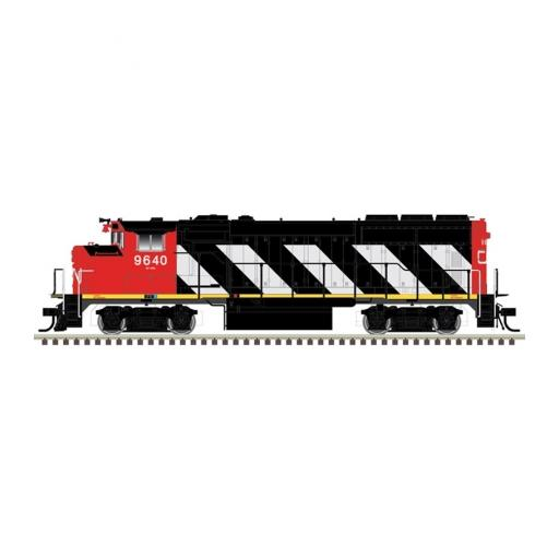 Atlas Model Railroad HO GP40-2W w/DCC & Sound, CN/Zebra Stripes #9623