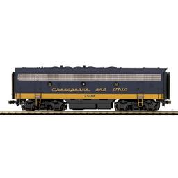Click here to learn more about the M.T.H. Electric Trains HO F7B w/PS3, C&O #7509.