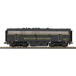 Click here to learn more about the M.T.H. Electric Trains HO F7B w/PS3, WM #53B.