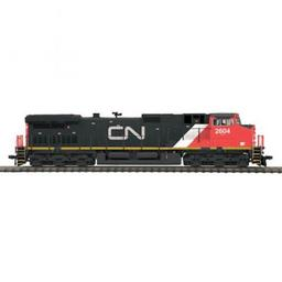 Click here to learn more about the M.T.H. Electric Trains HO Dash-9 w/PS3, CN #2604.