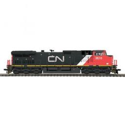 Click here to learn more about the M.T.H. Electric Trains HO Dash-9 w/PS3, CN #2610.