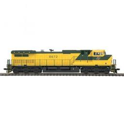 Click here to learn more about the M.T.H. Electric Trains HO Dash-9 w/PS3, C&NW #8672.