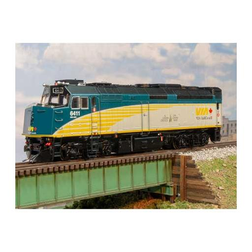 Rapido Trains Inc. HO F40PH-2D w/DCC & Sound, VIA No#