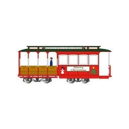 Click here to learn more about the Bachmann Industries HO Cable Car, Christmas.