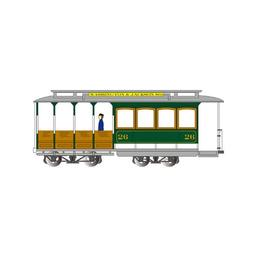 Click here to learn more about the Bachmann Industries HO Cable Car, Green & Gray.