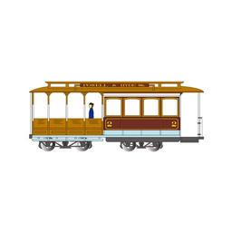 Click here to learn more about the Bachmann Industries HO Cable Car, Maroon & Tan.
