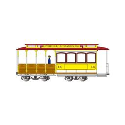 Click here to learn more about the Bachmann Industries HO Cable Car, Yellow & Red.