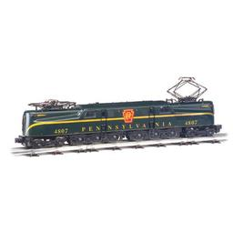 Click here to learn more about the Bachmann Industries HO GG1 w/DCC & Sound Value, PRR/Green/1 Stripe.