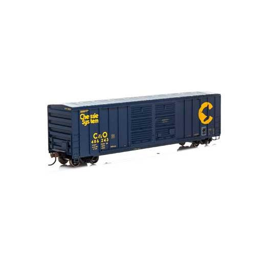 Athearn HO RTR 50'' FMC Double Door Box, C&O #486243