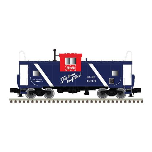 Atlas Model Railroad HO Extended Vision Caboose, Frisco #1240