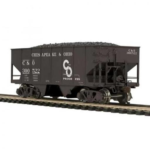 M.T.H. Electric Trains HO USRA 55-Ton Steel Twin Hopper, C&O #300522