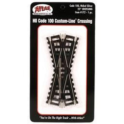 Click here to learn more about the Atlas Model Railroad HO Code 100 25 Degree Custom Crossing.