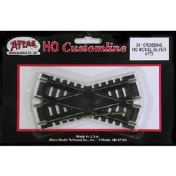 Click here to learn more about the Atlas Model Railroad HO Code 100 30 Degree Custom Crossing.
