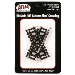 Click here to learn more about the Atlas Model Railroad HO Code 100 45-Degree Custom Crossing.