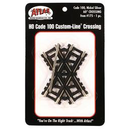 Click here to learn more about the Atlas Model Railroad HO Code 100 60-Degree Custom Crossing.