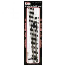 Click here to learn more about the Atlas Model Railroad HO Code 100 Mark IV #6 Right-Hand Turnout.