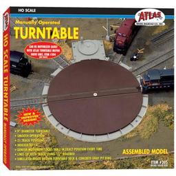 Click here to learn more about the Atlas Model Railroad HO Manual Turntable.